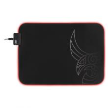 Mousepad de gaming L33T Karlvagn, RGB, suprafata rapida de panza, margini cusute, baza de cauciuc, 355x255x3mm, negru
