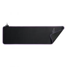 Mousepad de gaming L33T Asar Bardagi XXL, RGB, suprafata rapida de panza, margini cusute, baza de cauciuc, 920x294x4mm, negru