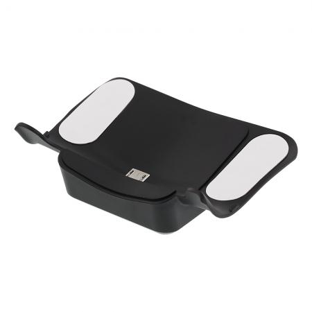 Receiver incarcare wireless pentru controllerPS4, DELTACO GAMING, certificat Qi, negru