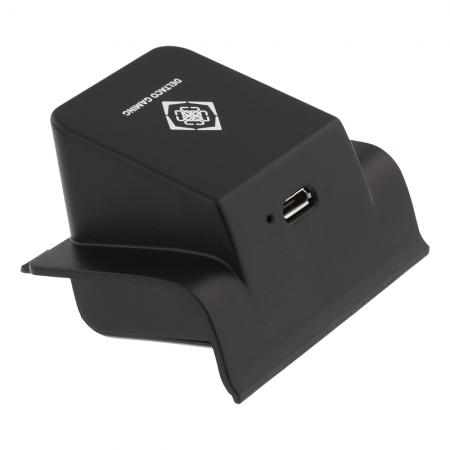 Receiver incarcare wireless cu power bank 700 mAh pentru controllerXbox One, DELTACO GAMING, certificat Qi, negru