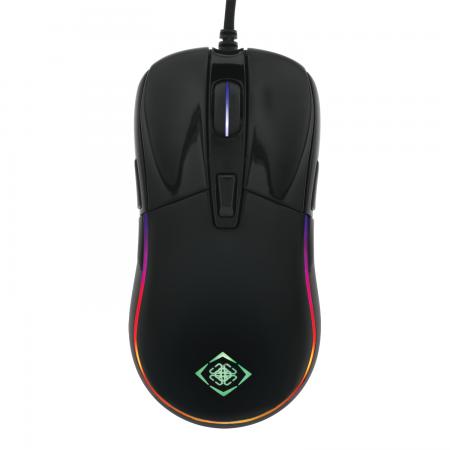 Mouse gaming DELTACO GAMING RGB, senzor PMW 3325, 5000 DPI, 1000 Hz, cablu 1.8m, USB, negru