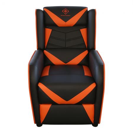 Fotoliu gaming DELTACO GAMING - Darth Maul, 3 pozitii, negru/ portocaliu