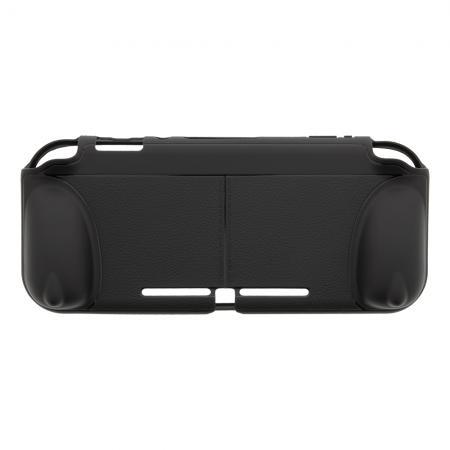 Husa grip DELTACO GAMING pentru Nintendo Switch Lite, functie suport, negru