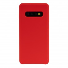 Pachet Husa silicon  JT Berlin Steglitz Samsung Galaxy S10 Plus Red + Folie Zagg InvisibleShield Original Full Screen Clear