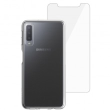 Husa + folie de sticla Skech Matrix SE Samsung Galaxy A7 (2018) Clear