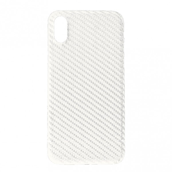 Husa de Carbon Apple iPhone Xr NEVOX White
