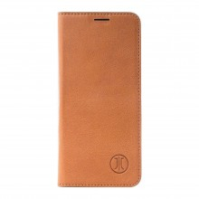 Husa de piele Apple iPhone Xr, JT Berlin Book Magic, Cognac