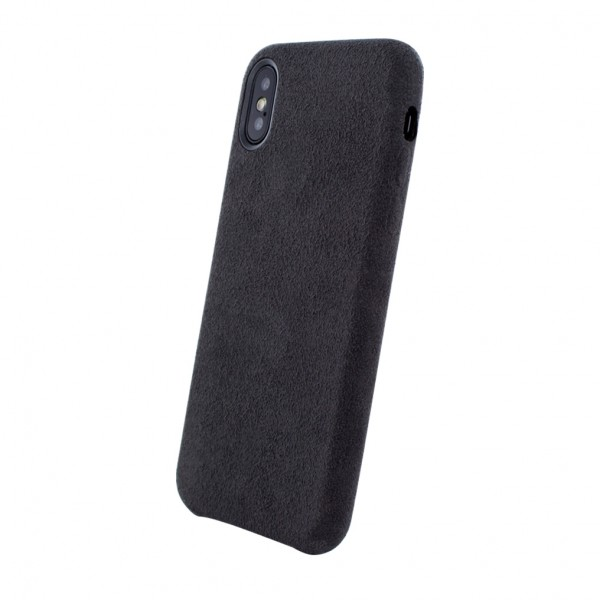 Husa Apple iPhone Xr Alcantara Black