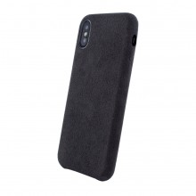Husa Apple iPhone Xs Max Alcantara Black