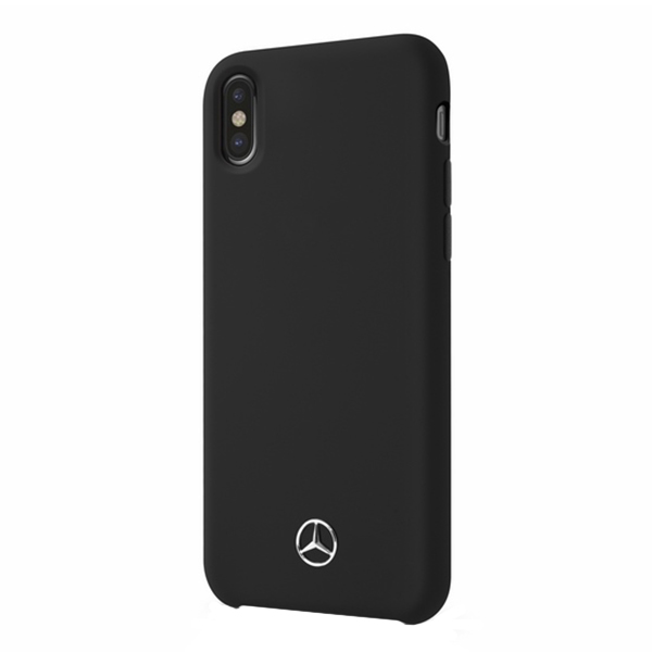 Husa Apple iPhone XS Max Mercedes-Benz Silicon Fiber Black