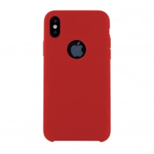 Husa Premium Liquid Silicon iPhone X Red