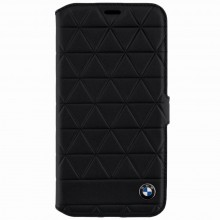Husa de piele book iPhone X BMW Signature Hexagon Black