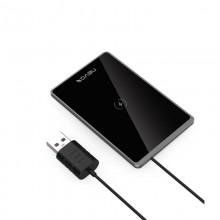 Incarcator Wireless Super Fast Charger 15W UltraSlim NEVOX Qi, Aluminium / Glass, Black