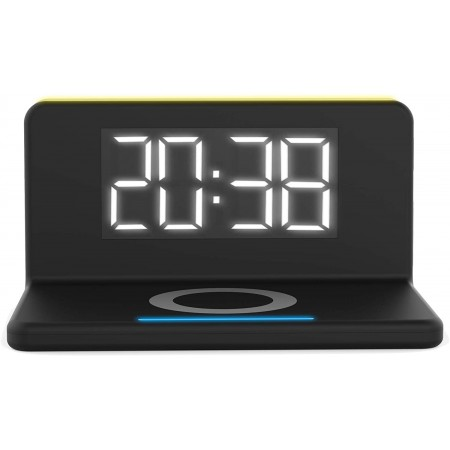 Incarcator wireless fast charge TerraTec ChargeAir clock, negru