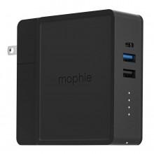 Statie incarcare multifunctionala Mophie Global Powerstation Hub cu power bank de 6000mAh si incarcare wireless, negru