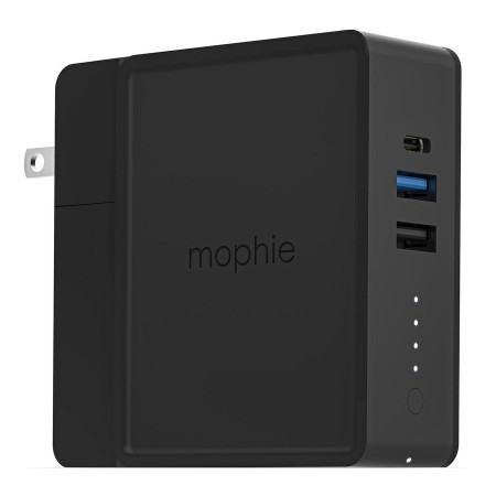Statie incarcare multifunctionala Mophie Global Powerstation Hub cu power bank de 6000mAh si incarcare wireless, negru