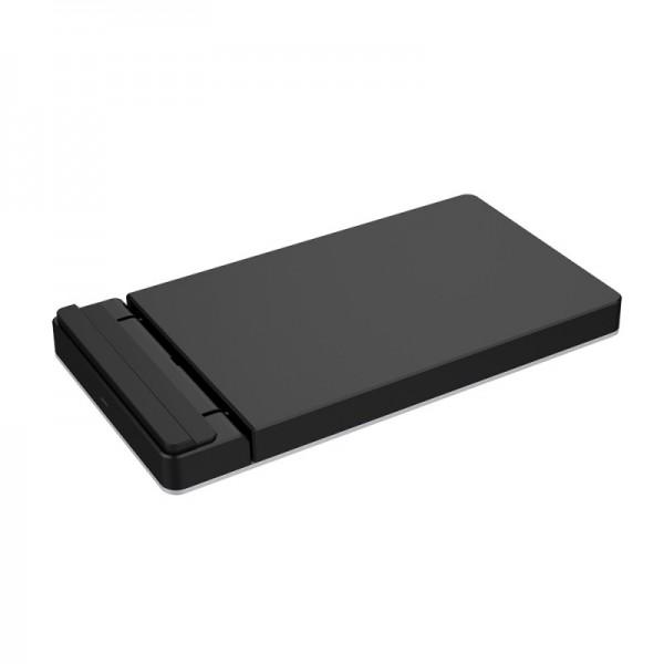 Incarcator AKASHI wireless fast charge PAD 10W Qi Black/ Aluminium