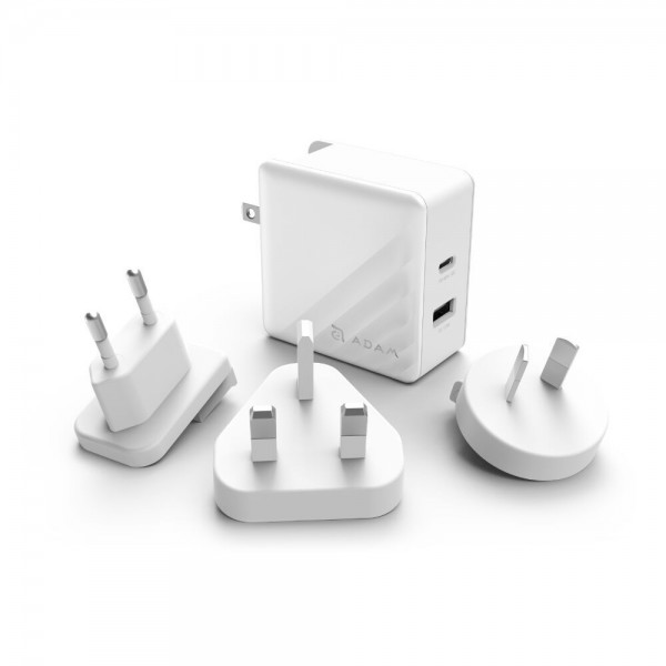 Incarcator Adam Elements OMNIA P5 USB-C PD / QC3.0 Fast Charging 57W White Pearl