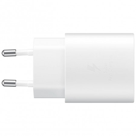 Incarcator Samsung Super Fast Charging (Max. 25W), C to C Cable, White