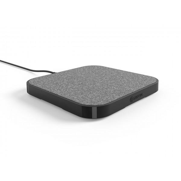 Incarcator wireless ultra rapid 15W Griffin PowerBlock Charging Pad, Grey/Black
