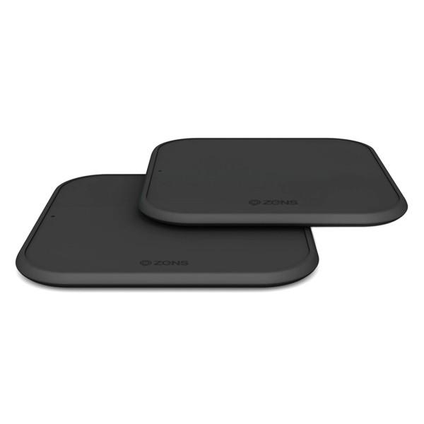 Set 2 incarcatoare wireless super slim Zens Premium Twin Pack fast charge 10W, Qi, negru
