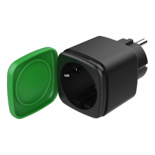 Priza inteligenta de exterior DELTACO SMART HOME, Amazon Alexa si Google Home, aplicatie iOS/ Android, WiFi 2,4GHz, IP44, 1xCEE 7/3, 13A, timer, 220-240V, verde/ negru