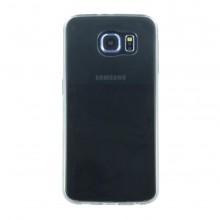 Husa de protectie slim de silicon CYOO Samsung Galaxy S6 Clear/Black (bulk)