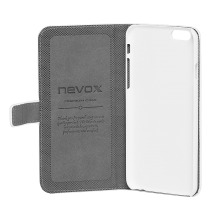 Husa de piele NEVOX Ordo Book pentru Apple iPhone 6/6s, White