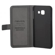Husa de piele NEVOX Ordo Book pentru Samsung Galaxy A3 (2016), Black