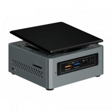 Mini sistem PC Intel Next Unit of Computing NUC6CAYH, Intel HD Graphics 500, No RAM, No HDD, Intel Celeron Quad Core J3455, Free Dos