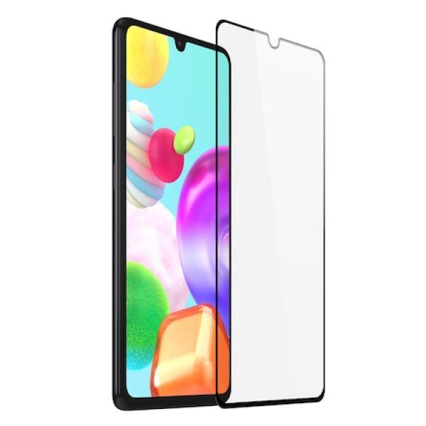 Folie sticla securizata 5D pentru Samsung Galaxy A12, 9H, full screen, full glue, Neagra