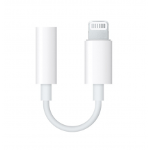 Adaptor audio casti Apple Lightning la Jack 3.5mm Alb