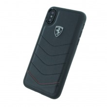 Husa de piele Ferrari Heritage Quilted Apple iPhone Xs/X Black