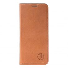 Husa de piele iPhone Xs/X JT Berlin Book Magic Cognac