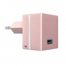 Incarcator Priza  Just Wireless USB 2.4A, 12W, Rose Gold