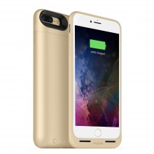 Carcasa cu acumulator 2420mAh si incarcare wireless Mophie Juice Pack Air Apple iPhone 7 Plus, Gold