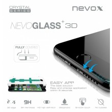 Folie sticla cu aplicator NEVOX NEVOGLASS 3D Apple iPhone 8 White