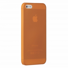 Husa Ozaki O!Coat 0.3 Jelly Apple iPhone SE/5s/5 Orange (include folie protectie)