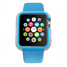 Carcasa dual layer Ozaki O!Coat Shockband Apple Watch, Watch Sport, Watch Edition - (38mm) Blue
