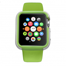 Carcasa dual layer Ozaki O!Coat Shockband Apple Watch, Watch Sport, Watch Edition - (38mm) Verde