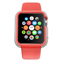 Carcasa dual layer Ozaki O!Coat Shockband Apple Watch, Watch Sport, Watch Edition - (38mm) Pink
