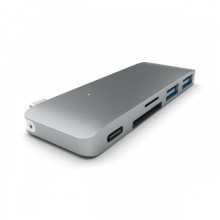 Adaptor Satechi Type-C Pass USB Hub Space Grey