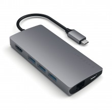 Adaptor SATECHI Multi-Port V2 Aluminum Type-C 4K Space Grey