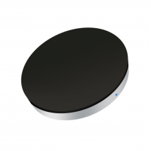 Incarcator wireless Qi ZENS Single Charger Round Black/Silver