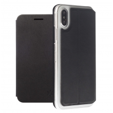 Husa iPhone X/Xs honju DarkBook Folio Negru