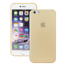 Husa Ultraslim Redneck Svelto 0.35mm pentru Apple iPhone 6/6s, Transparent  Gold