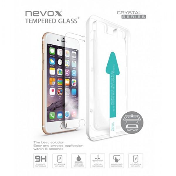 Folie sticla cu aplicator NEVOX Glass Crystal pentru iPhone SE 2 / 8 / 7/ 6s/ 6