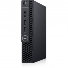 Sistem Desktop Dell OptiPlex 3060 Micro Form Factor cu procesor Intel® Core™ i3-8100T 3.10 GHz Intel UHD Graphics 630, Coffee Lake, 4GB, 128GB(M.2) SSD,, Ubuntu,WiFi+Bluetooth, Negru, Mouse + Tastatura