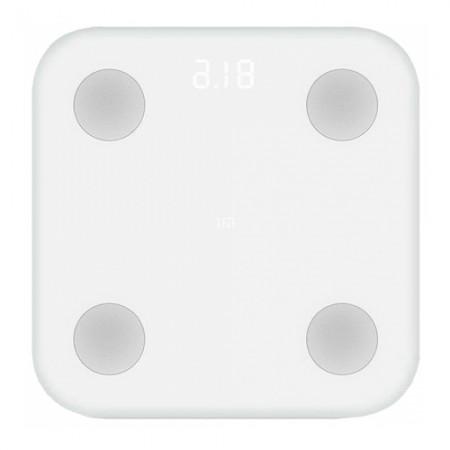 Cantar inteligent Xiaomi Mi Body Fat, 150 Kg, BMI, App, Alb