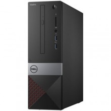 Sistem Desktop Dell Vostro 3470 SFF, Intel Core i3-8100, 4GB DDR4 2400MHz, 128GB SSD, Intel Graphics, DVD+/-RW, Ubuntu, Mouse + Tastatura, NBD